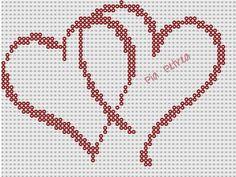 Hearts perler pattern by Pia Petrea