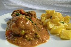 Las recetas faciles de María: Albondigas en Salsa ó El Recuerdo del Cariño