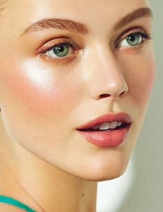 Frida Gustavsson Wows in Elle Canada Beauty Shoot by Max Abadian Summer beauty inspo: luminous skin, peachy cheeks, strong upswept brows, light shadow and pink lip colour Frida Gustavsson, Makeup Inspo, Makeup Inspiration, Makeup Kit, Makeup Ideas, Makeup Hacks, Bridal Makeup, Wedding Makeup, Bridal Beauty
