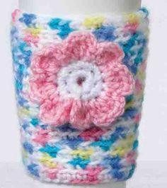 Coffee Cup Cozy-free crochet pattern