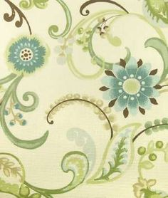 Fabric...another quilt for our bed! Love the blues, greens, creams, and sprinkles of soft brown.