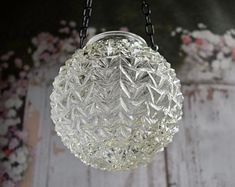 Mason Jar Alternative candle holder from vintage repurposed glass light cover