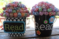 redheaded crafter: Reading Incentive Bucket for the Classroom
