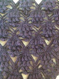 MY WORK! Grapes shawl