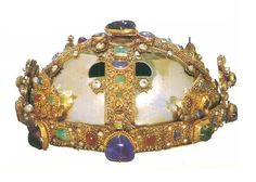 Sweden /Stockholm/ State Historical Museum (Permanent Display 1relic crown, 1 medieval circlet). Crown of St.Elizabeth. Frederick II, Holy Roman Emperor