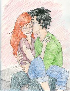 smoooch. by *burdge-bug :: Harry and Ginny