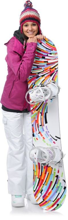 Love the graphics on the board! (Snowboarding outfit from Zumiez) Ski Club, Winter Sports, Winter Fun, Snowboarding Outfit, Ski And Snowboard, Winter Outfits, Winter Clothes, Sports Women, Cool Girl