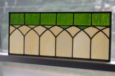Items similar to Arches Transom Window Panel on Etsy Faux Stained Glass, Stained Glass Designs, Stained Glass Panels, Stained Glass Projects, Stained Glass Patterns, Leaded Glass, Mosaic Glass, Glass Art, Faux Window