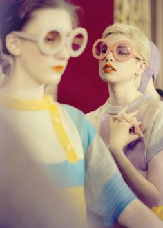 love the playful 60s feel of this backstage photo from the Tsumori Chisato Autumn/Winter 2011 collection