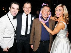 George Takei gets lei'd by Tony Danza and the cast of HONEYMOON IN VEGAS!