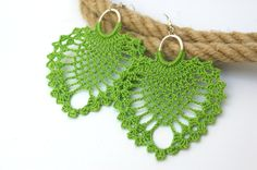 Orecchini  Orecchini crochet grande  gioielli orecchino