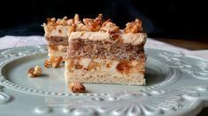 Romanian Food, Romanian Recipes, Square Cakes, Vanilla Cake, Tiramisu, Caramel, Recipies, Cheesecake, Candy