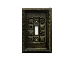 1960s Single Light Switch Plate Cover Retro Olive by OldLikeUs