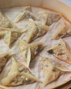 Thirsty For Tea Dim Sum Recipe Shiitake & Napa Cabbage Dumplings Pork Recipes, Asian Recipes, Vegetarian Recipes, Cooking Recipes, Healthy Recipes, Asian Foods, Vietnamese Recipes, Wontons, Kitchens