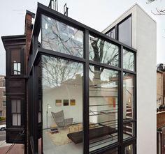 fachada - caixa de vidro