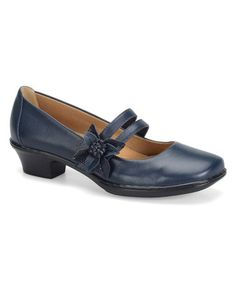 Another great find on #zulily! Navy Sable Arcadia Leather Mary Jane by Softspots #zulilyfinds