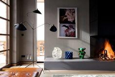 Serge Mouille tripod floor lamp.