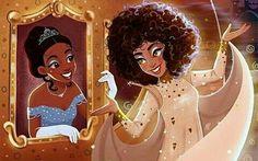 Black Love Art, Black Girl Art, Art Girl, Black Girls, Black Disney Princess, Princesa Tiana, Arte Black, Black Fairy, Black Girl Cartoon