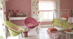 Dormitorio infantil. Desde Designer's Guild.
