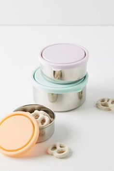 Ever Eco Round Nesting Container Set by in Assorted Size: All, Wellness at Anthropologie - baby products list Neutral, No Waste, Produce Bags, Be Natural, Sustainable Living, Sustainable Design, Kitchenware, Tableware, Sustainability