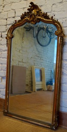 Mid 19th Century French Rococo Gilt Framed Mirror by AngilouGFF