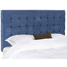 Darby Home Co Lyttleburye Upholstered Panel Headboard Size: Queen, Upholstery: Grey Blue Headboard, Tufted Headboard Queen, Panel Headboard, Upholstered Headboards, Bedroom Furniture, Furniture Decor, Modern Furniture, Upholstery, Beige