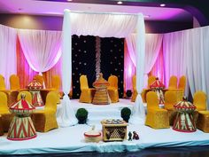 Here is another look of a traditional and wedding set-up. This was a real original.from gold sequin chairs to embroidered velour backdrop! Wedding Set Up, Wedding Things, Ethiopian Wedding, Ethiopian Dress, Traditional Wedding Decor, Eritrean, Event Styling, Event Design, Home Art