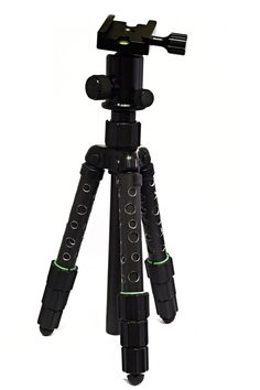 """Short and now light weight. I have used this little Cullmann tripod on and off for years. But now I take it with me back backing all the time. I replaced the head and drilled holes through the legs.  Total height folded and collapsed is 34cm (approx. 13 1/2 """"), so it will fit almost anywhere. Cullmann has a new model in a set called """"Flexx Touring Set""""  Pinned by Fotograf Mark Cabot"""