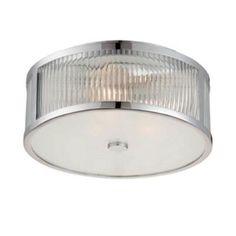 "Savoy House Brian Thomas Chrome 6-6800-15-11 Lombard Flush Mount - 3 x 60watt bulbs - 15"" Diameter, 6.25"" H"