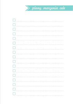 Chcesz się dobrze zorganizować? Wiecznie brakuje Ci czasu? Wydrukuj ten darmowy planer i zapanuj nad swoim dniem! School Organization, Filofax, Bujo, Back To School, Bullet Journal, Notes, Life, Inspiration, Ideas