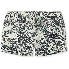 Kids' Mixed Animal Print Shorty Shorts ❤ liked on Polyvore featuring alice clothes