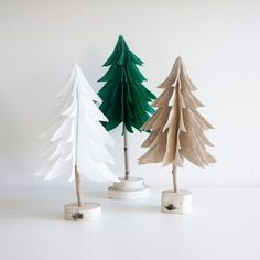 christmas tree natural holiday decor felt tree by urbanplusforest New Years Decorations, Tree Decorations, Christmas Decorations, Holiday Decor, Christmas Crafts For Gifts, Felt Christmas, Christmas Ornaments, Christmas Ideas, Felt Tree