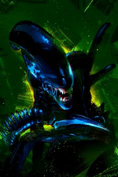 Metal Poster // Alien Right out of the box, this gicl¨¦e quality metal poster print is ready to snap right to your walls. It includes the unique magnet mounting hardware, and features Alien Tattoo, Ufo, Saga Art, Alien Art, Alien Alien, Predator Alien, Aliens Movie, Kunst Poster, Image Comics