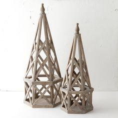 Wooden Hexagon Obelisk