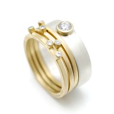 wide band scattered diamond ring - Google Search