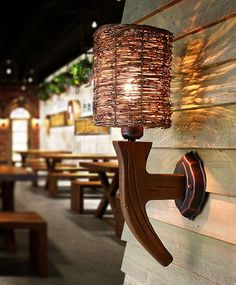 84.78$  Buy here - http://ai3cb.worlditems.win/all/product.php?id=32744763723 - Southeast Asia handmade natural rattan art wall lamps Nostalgic design wood art E27 LED lamp for stairs&cafe&porch&aisle LDK028