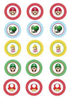 toppers-chicos.gif 595×842 pixeles Super Mario Cupcakes, Bolo Super Mario, Super Mario Birthday, Mario Birthday Party, Super Mario Party, Super Mario Bros, Mario Y Luigi, Mario Kart, Princess Peach Party