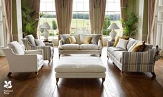 Duresta Upholstery - handmade in England.. love this layout and style of sofa and chairs :-)