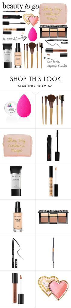 """""""Must haves!"""" by nora-jakucs ❤ liked on Polyvore featuring beauty, beautyblender, Forever 21, Smashbox, Sephora Collection, Kat Von D, Bare Escentuals and Too Faced Cosmetics"""