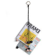 Magazine+Hang+Out+Zeitungsständer,+Schwarz,+by+Wirth