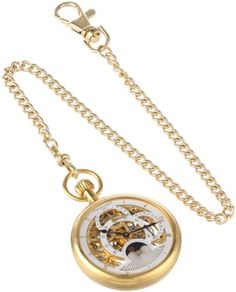 Charles-Hubert, Paris Gold-Plated Dual Time Mechanical Pocket Watch ** Visit the image link more details.