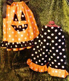 Pumpkin pillowcase outfit