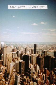 Sensaciones de *primeranecesidad* New York, i love you.