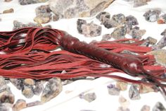 Light weight with a high sting, this oxblood flogger floats in the hand and attacks with a surprising sting.