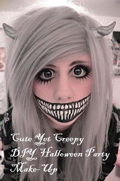 Creepy DIY Halloween Party Make-Up,,#Halloween