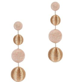 Ettika Drop Down Earrings in Metallic Gold 5QRnC5NQ