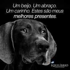E só você pode me dar.  A kiss. A Hug. These are my best gifts. And only you can give it to me. #cachorro #amor #dog #love