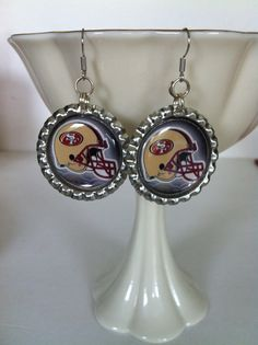 Check out this item in my Etsy shop https://www.etsy.com/listing/162337631/san-francisco-49ers-earrings-handmade