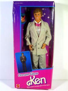 NIB BARBIE DOLL 1985 DREAM GLOW KEN