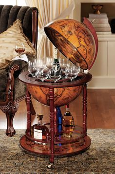 The Globe Bar - A Liquor Cabinet with Distinction